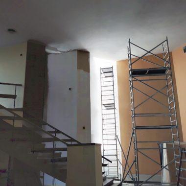 Prace remontowe w kościele